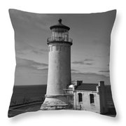 Cape Disappointment Oregon B/w Throw Pillow