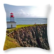Cape D'or Lighthouse-ns Throw Pillow