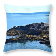 Cape Elizabeth Coast Throw Pillow