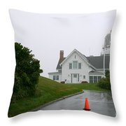 Cape Elizabeth On A Rainy Day- Maine Throw Pillow
