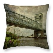 Cape Fear Morning Glory Throw Pillow