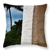 cape Florida light door Throw Pillow