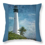 Cape Florida Lighthouse 2 Throw Pillow