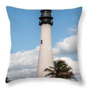 Cape Florida Lighthouse Throw Pillow