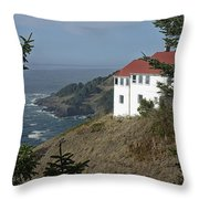 Cape Foulweather Lookout Throw Pillow