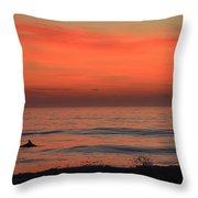Cape Hatteras Dolphin 2 Throw Pillow