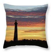 Cape Hatteras Lighthouse At Sunset Throw Pillow