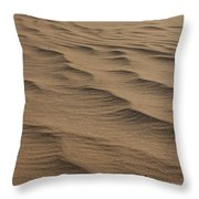 Cape Hatteras Ripples In The Sand-north Carolina Throw Pillow