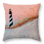 Cape Hatteras Sunrise Throw Pillow