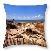 Cape Henlopen Overlook Throw Pillow