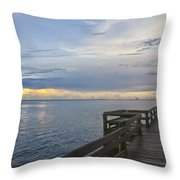 Cape Kennedy At Sunset Throw Pillow