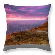 Cape Kiwanda Sunset Throw Pillow