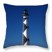 Cape Lookout In The Blue Throw Pillow