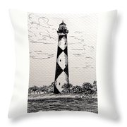 Cape Lookout Lighthouse Nc Throw Pillow