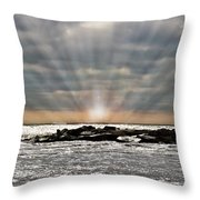 Cape May After The Storm Throw Pillow