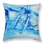 Cape May Bathing Beauty Throw Pillow