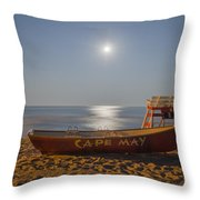 Cape May By Moonlight Throw Pillow