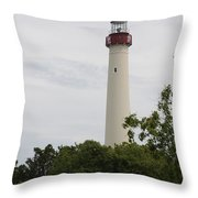 Cape May Lighthouse II Throw Pillow