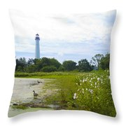 Cape May Lighthouse - New Jersey Throw Pillow