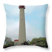 Cape May Lighthouse One Throw Pillow