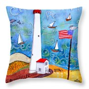 Cape May Point Lighthouse Throw Pillow