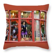 Cape May Storefront Throw Pillow