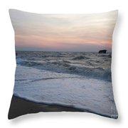 Cape May Sunset Beach Nj Throw Pillow