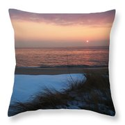Cape May Twilight In February Throw Pillow