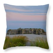 Cape May Wold War Two Concrete Bunker Throw Pillow