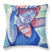 Cape May1920s Bathing Beauty Throw Pillow