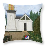 Cape Meares Lighthouse April 2013 Throw Pillow by Anne Norskog