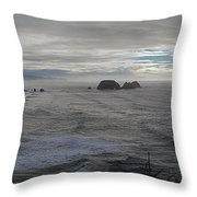 Cape Mears Storms Throw Pillow