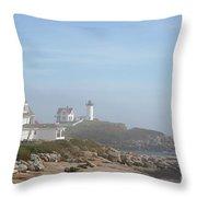 Cape Neddick Lighthouse IIi Throw Pillow