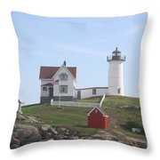 Cape Neddick Lighthouse - Me Throw Pillow