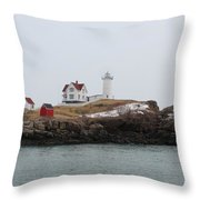 Cape Neddick - Nubble Light 2 Throw Pillow