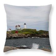 Cape Neddick - Nubble Lighthouse Throw Pillow