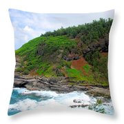 Cape Of Makapili  Throw Pillow
