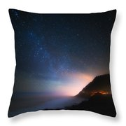 Cape Perpetua Celestial Skies Throw Pillow