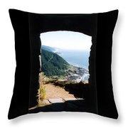 Cape Perpetua Throw Pillow