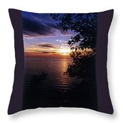Cape Perpetua Sunset Throw Pillow