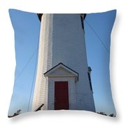 Cape Poge Lighthouse Throw Pillow