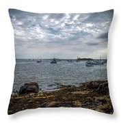 Cape Porpoise Maine - In The Evening Throw Pillow