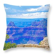 Cape Royal Blue On North Rim Of Grand Canyon-arizona Throw Pillow