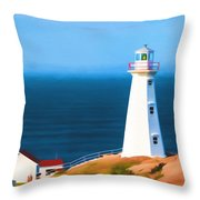 Cape Spear Lighthouse Throw Pillow