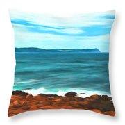 Cape Spear Shoreline Throw Pillow