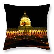 Capital Building In Utah Salt Lake City Throw Pillow