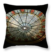 Capital Building Stained Glass 2 Throw Pillow