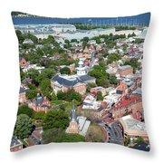 Capital City Of Maryland Throw Pillow