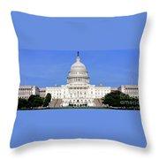 Capital Idea Throw Pillow
