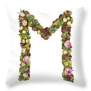 Capital Letter M Throw Pillow